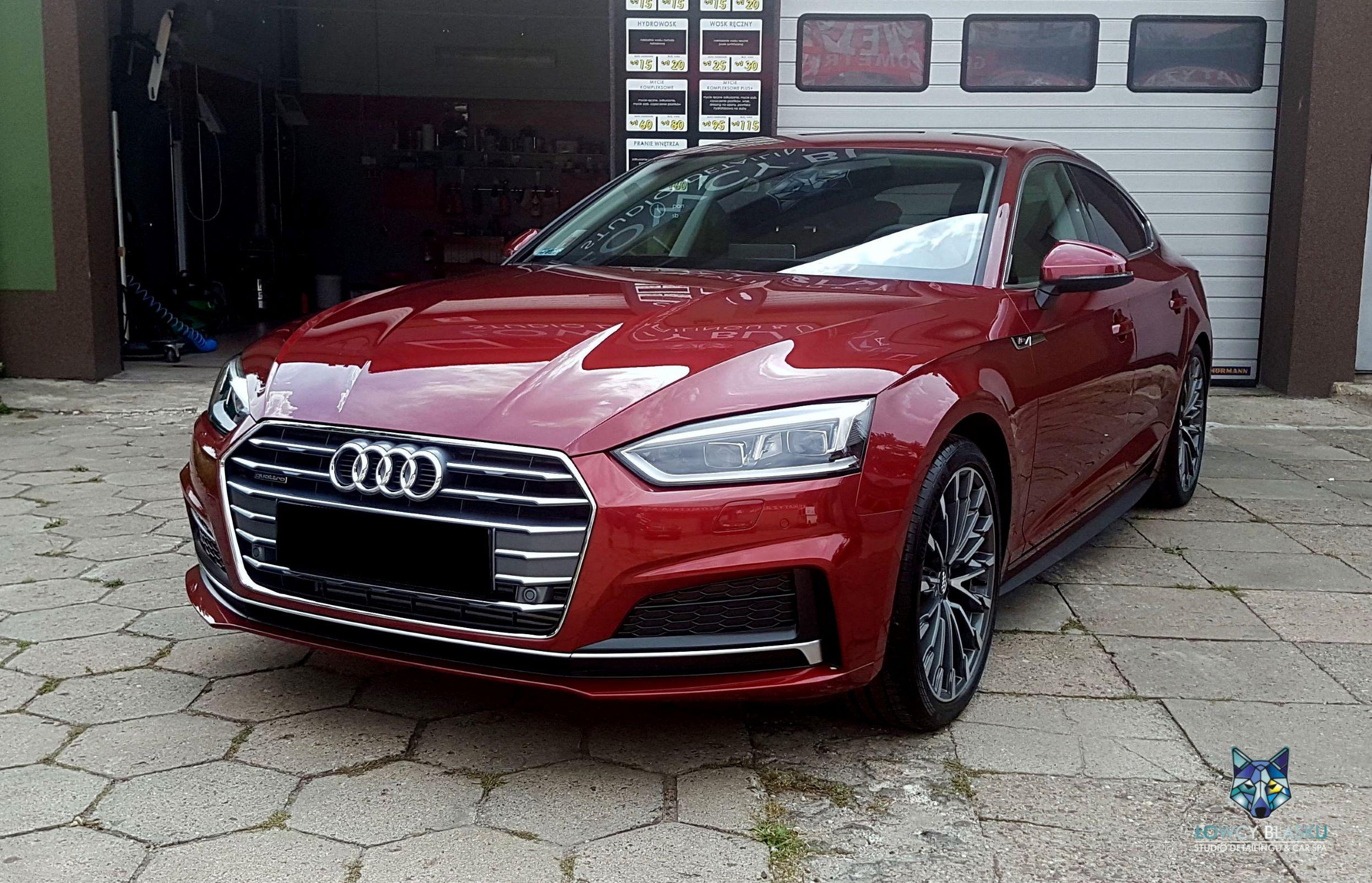 Audi A5 SLine zabezpieczone powłoką ceramiczną Opti Coat