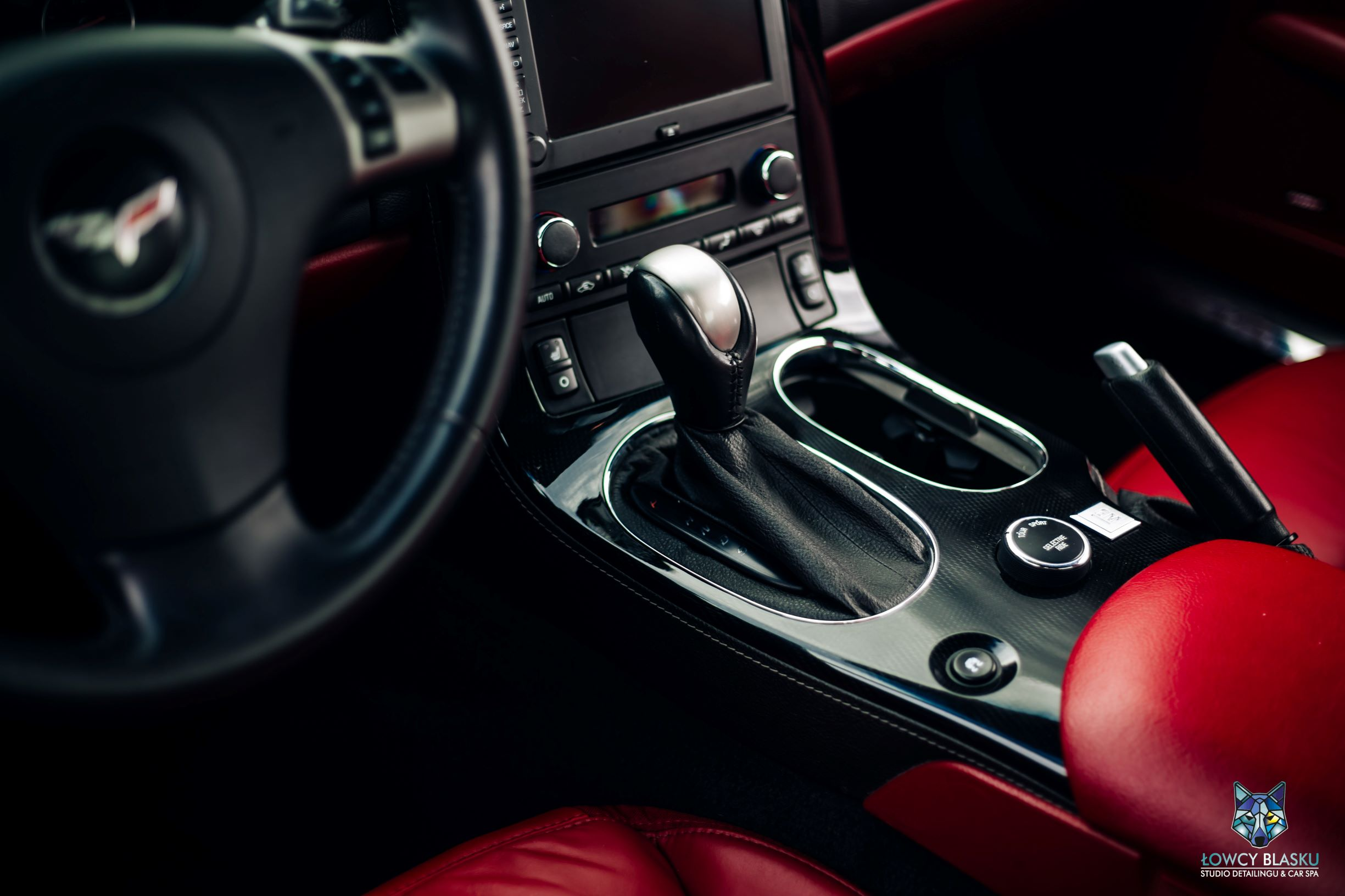 Chevrolet Corvette-pełny detailing wnętrza